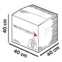 caixa que motoboy pode entregar